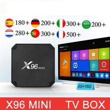 x96 mini android tv box with 1 year code uk spain belgium ar