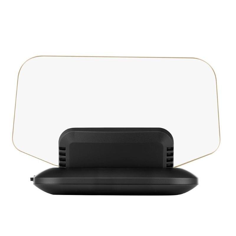 Nouvelle voiture HUD affichage tête haute OBD2 GPS HD LED système d'avertissement de survitesse projecteur pare-brise Auto électronique alarme de surtension