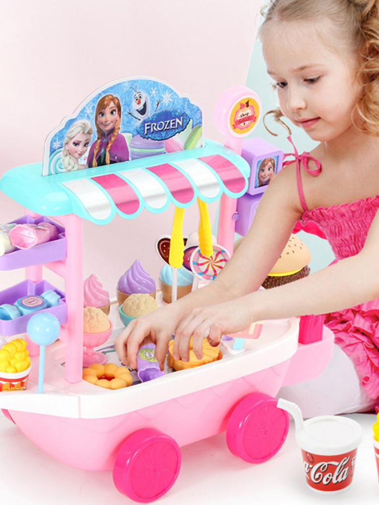 High Quality 25 Pcs Mini Candy Trolley Ice Cream Candy Cart Educational Toy Pretend Play Set For Girls Brain Game