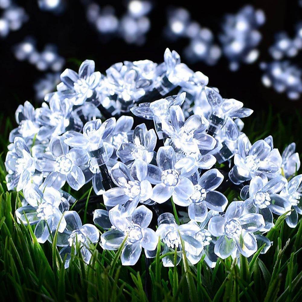 7m Lighting String Fairy Lights LED Solar Lamps Solar Garden Light Outdoor Waterproof Wedding Party Christmas Garland Decoration