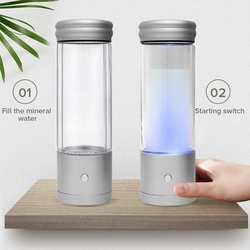 AUGIENB 350ml H2 bogata woda wodorowa butelka alkaliczny Generator jonizatora zdrowe Anti Aging USB akumulator RGB LED Light prezent w Filtry do wody od AGD na