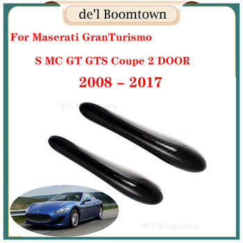 New Car Door Handle Cover accessories 100% real carbon fiber For Maserati GranTurismo S MC GT GTS Coupe 2 DOOR 2008-2017 image
