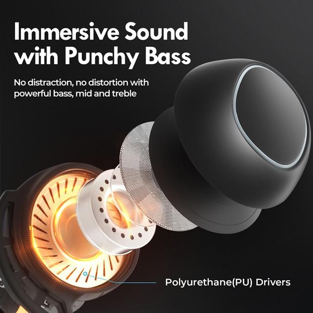 M30 Plus Bluetooth 5.0 Earphones True Wireless Earbuds Touch Control IPX8 Waterproof Headphones with 2600mAh Charging Case 5