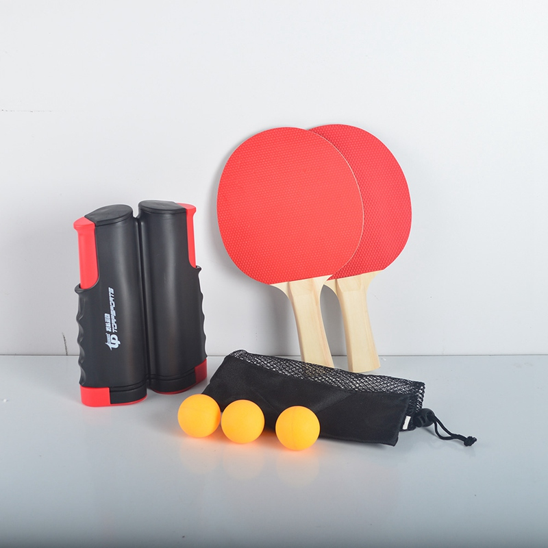 Ping Pong Table Tennis Portable Set 2020 Retractable Net Training Robot Rubber Accessories Film Professional Red Ping Pong Set