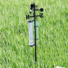 Садовая уличная метеостанция, метеоизмерительный прибор, инструмент для измерения ветра и дождя, термометр, DQ-капля