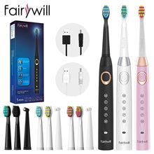Sonic Toothbrush Fairywill Brush-Heads Electronic-Tooth-Replacement Usb-Charge Electric