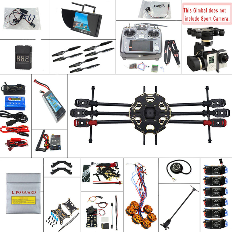 JMT 680PRO PX4 GPS 2.4G 10CH 5.8G Video FPV RC Hexacopter Unassembled Full Kit RTF DIY RC Drone Combo MINI3D Pro Gimbaldrone helicopterdronegimbal lighting -