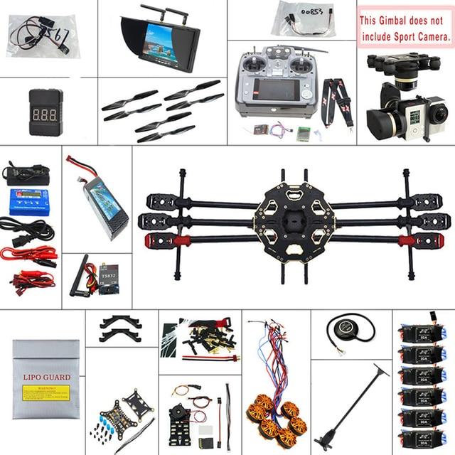 JMT 680PRO PX4 GPS 2.4G 10CH 5.8G Video FPV RC Hexacopter Unassembled Full Kit RTF DIY RC Drone Combo MINI3D Pro Gimbal