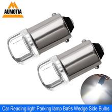 2x BA9S T4W светодиодный автомобильный светильник лампочка T2W T3W H5W интерьер автомобиля светодиодный номерной знак светильник 2 светодиодный 2835 SMD DC12V 12913 12910 12929