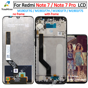 Image 1 - Original for Xiaomi Redmi note 7 lcd Display Touch Screen Digitizer Assembly Replacement Note7 For Redmi note 7 pro lcd M1901F7G