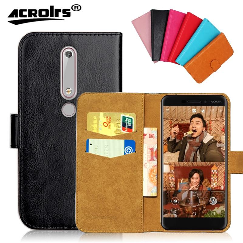 Case Voor Nokia 2.1 2.4 3.4 2.3 3.1 5.1 5.3 6.1 8.1 Plus Nokia Case Flip Slots Lederen Portemonnee Gevallen beschermende Cover Phone Bag