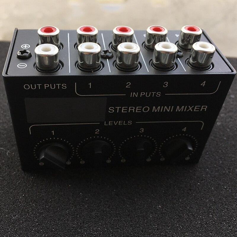 Image 3 - Cx400 Mini Stereo Rca 4 Channel Passive Mixer Small Mixer Mixer Stereo Dispenser for Live and StudioDAC   -
