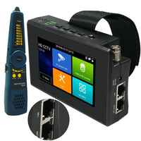 4 Cal 4K H265 H264 tester kamery ip 8MP AHD/TVI / CVI CVBS tester kamery monitoringu Monitor PTZ kontroler szybki ONVIF IPC Tester POE