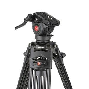 Image 3 - VILTROX VX 18M 1.8M Professional แบบพกพา Heavy Duty Stable อลูมิเนียมลื่น Video + ขาตั้งกล้องไฮดรอลิกหัววิดีโอกล้อง DV