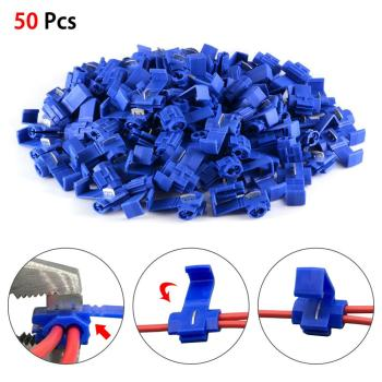 цена на 50pcs Blue Scotch Lock Wire Connectors High Performance Quick Splice Crimp Terminals for Crimp Electrical Part