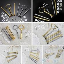1 Set Cake Plate Stands Multistyle 2/3 Tier Handle Fitting Hardware Rod Tool Stand Wedding Birthday
