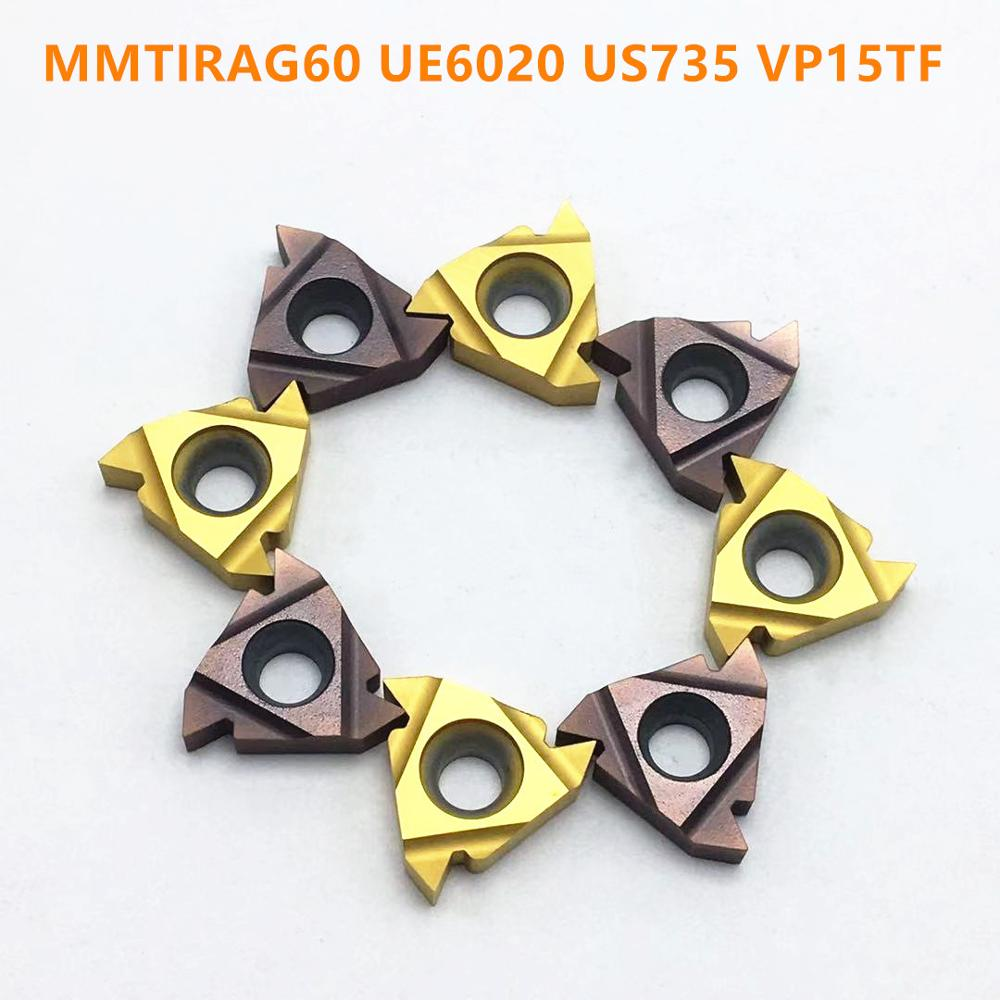 16ER 16IR <font><b>AG60</b></font> UE6020 VP15TF US735 <font><b>11ER</b></font> 11IR AG60UE6020 US735 VP15TF carbide blade thread turning tool CNC tool MMT16IRAG60 16ER image