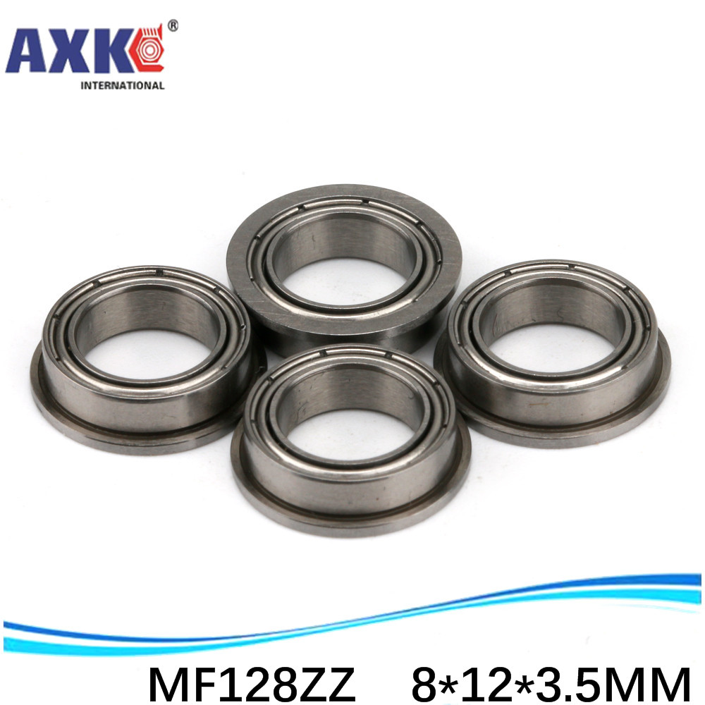 10pcs Free Shipping Boutique flange <font><b>ball</b></font> bearings MF128ZZ / LF1280ZZ size 8*12*13.6*<font><b>3.5</b></font>*0.8 <font><b>mm</b></font> image