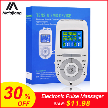 Electronic Pulse Massager/Tens EMS Machine Massager/Electrical Nerve Muscle Stimulator/Low Frequency Physiotherapy Device