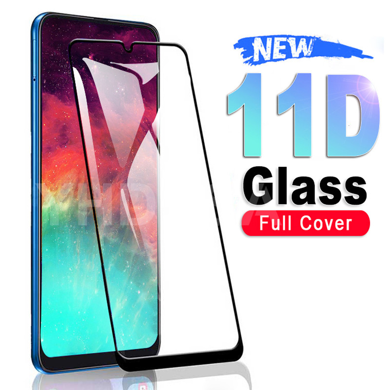 11D Tempered Glass On For Samsung Galaxy A10 A30 A40 A50 A60 Screen Protective Glass Samsung A70 A80 A90 M10 M20 M30 M40 Glass