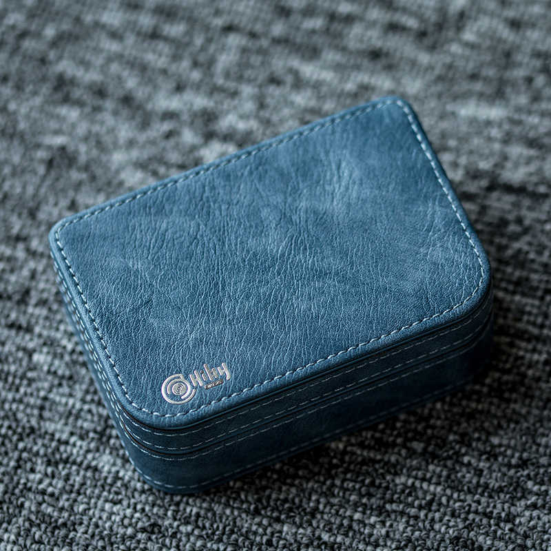 HiBy premium custodia in pelle della protezione esterna scatola di immagazzinaggio per il trasduttore auricolare Cavo USB di Potere del Caricatore Micro carta di DEVIAZIONE STANDARD di Accessori