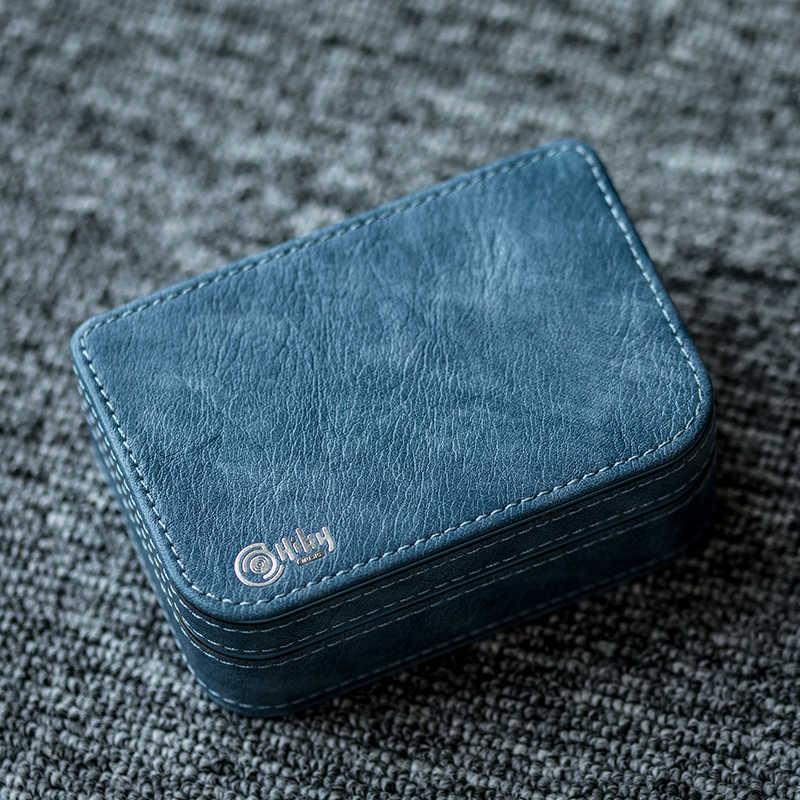 Hiby premium couro caso caixa de armazenamento proteção externa para fone de ouvido usb cabo carregador de energia micro cartão sd acessórios