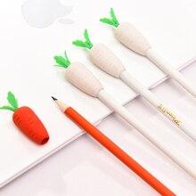 Растительное ластик морковь карандаш ТМ Рисование Живопись Карандаши Канцелярские Принадлежности для студентов офисные школьные принадлежности для детей милые подарки