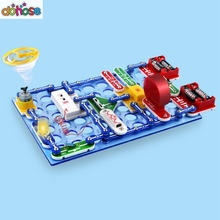 Обучающий 199 видов комбинированных переключателей режимов, электронный блок, набор электрических обучающих сборочных игрушек для детей