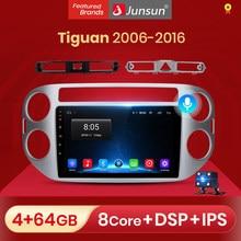 Junsun V1 Android 10.0 AI commande vocale autoradio multimédia pour Volkswagen Tiguan 1 NF 2006 2008 2010 2012-2016 Navigation GPS