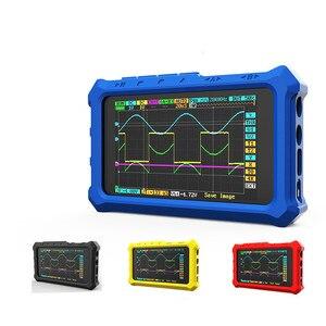 Image 1 - Nowy ręczny 4 kanał 100 ms/s Nano osd DSO213 DS213 oscyloskop cyfrowy LCD pojemnik
