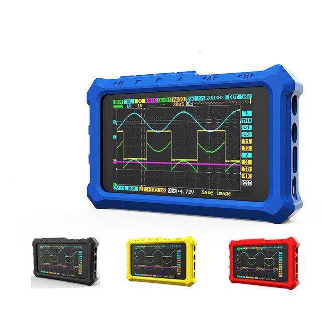 Nowy ręczny 4 kanał 100 ms/s Nano osd DSO213 DS213 oscyloskop cyfrowy LCD pojemnik
