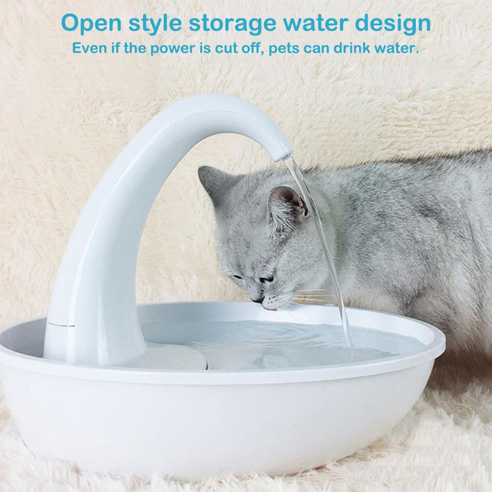 Automatic Swan Pet Cat Water Dispenser Feeding Water Flowing Fountain Cat Drinking Bowl Electric Water Dispenser For Cat Dog