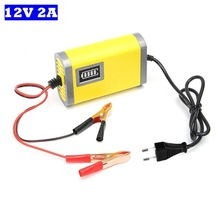 Motorcycle Charger 12V 2A Smart Auto Car Lead Acid Battery Charger DC 13.8V 2A For AGM Gel Storage Battery 12V 3AH 20AH