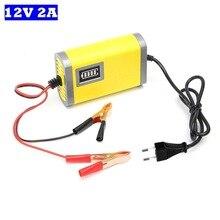Ładowarka motocyklowa 12V 2A smart auto samochód ładowarka do akumulatora kwasowo ołowiowego DC 13.8V 2A dla AGM żel do przechowywania baterii 12V 3AH 20AH
