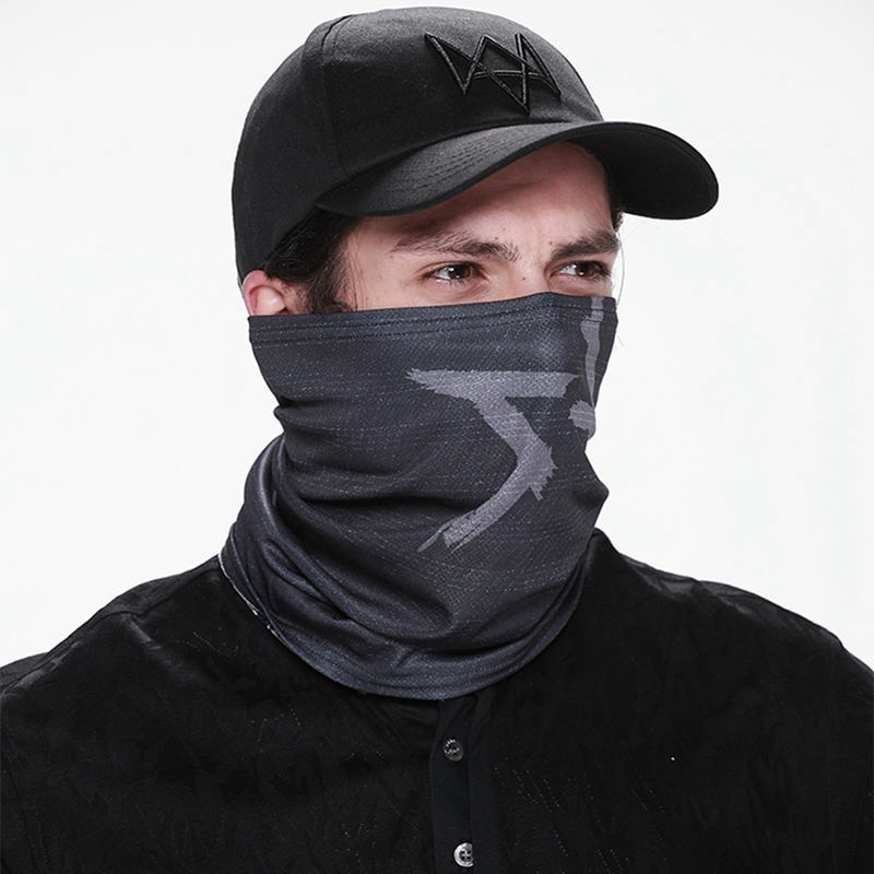New Watch Dogs Fashion Face Mask Aiden Pearce Half Windproof Cotton Neck Warmer Cosplay Scarf Game Costume Cos Party Mask