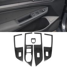 Staal Carbon Fiber Interieur Voor Volkswagen Vw Golf 8 MK8 2020 2021 Lhd Water Cup Cover Air Vent Window Lift switch Panel Trim