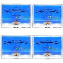4pcs Classic Lake blue DB Header Level Audio Power Amplifier VU Meter McIntosh figure цена