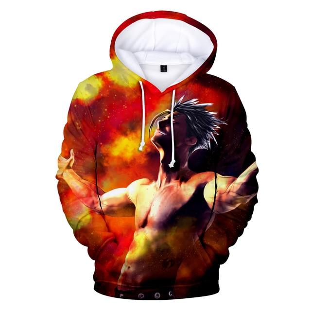 Long Sleeve Cool Cosplay Nanatsu geen taizai Hoodies mannen Flash Sale Truien Nanatsu geen taizai sweatshirts Harajuku  Hip Pop