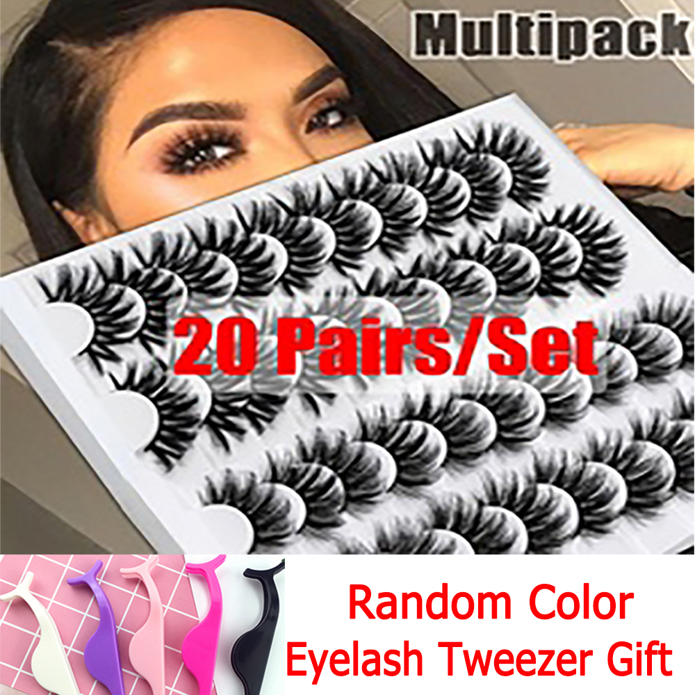 10/20 Pairs 6d Eyelashes Thick Mink Lashes Natural Long Normal/Mixed Mink Eyelashes False Eyelashes Full