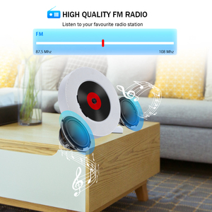Image 5 - Qosea taşınabilir duvara monte Bluetooth CD çalar USB sürücüsü LED ekran HiFi hoparlör ses uzaktan kumanda ile FM radyo dahili