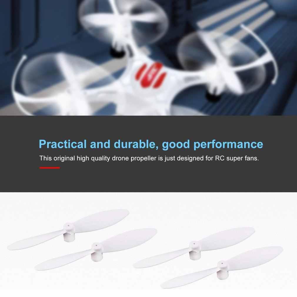 2 Pasang Asli Drone Baling-Baling Bagian Portable CW/CCW Baling-Baling untuk Eachine Jjr/C H8 Mini RC quadcopter