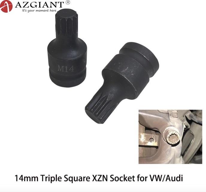 1PC 14mm For Volkswagen Touareg Audi Q7 Porsche Cayenne Brake Caliper Pad Screws Disassembly Sleeve M14 Triple Square XZN Socket