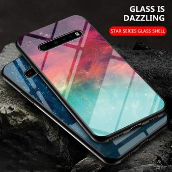 Перейти на Алиэкспресс и купить Чехол для телефона LG G8 V60 ThinQ, тонкий тпу чехол для телефона G7, G6 Plus, с рисунком облаков, звезд, закаленное стекло, ударопрочный