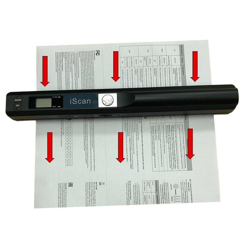 IScan Портативный Новый креативный портативный сканер документов 900 dpi USB2.0 ЖК-дисплей Поддержка выбора формата JPG/PDF