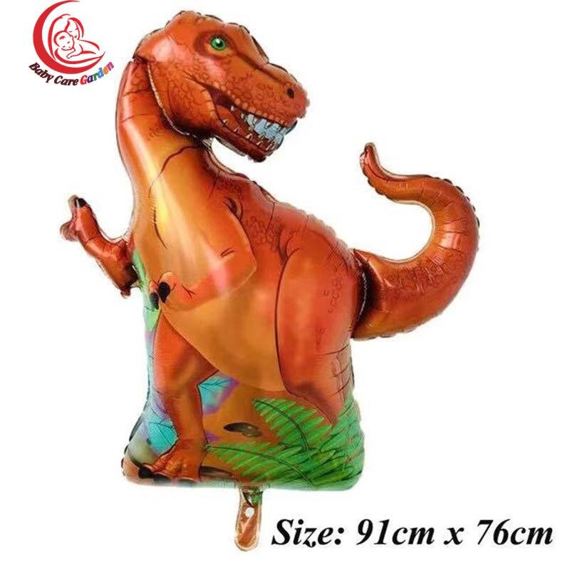 yrannosaurus raptors triceratops Jurassic dinosaur big size balloons boy' birthday party decor baby shower helium globos