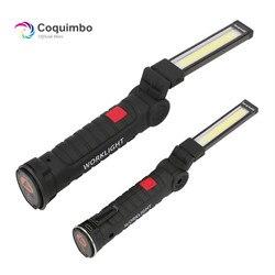 1 * COB LED lampe USB Aufladbare Gebaut in Batterie LED Licht mit Magnet Tragbare Taschenlampe Outdoor Camping Arbeits Taschenlampe