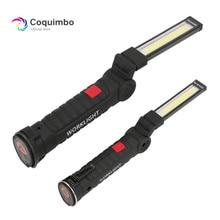 1 * lampa COB LED USB akumulator wbudowana bateria LED z magnesem przenośna latarka Outdoor Camping Working Torch