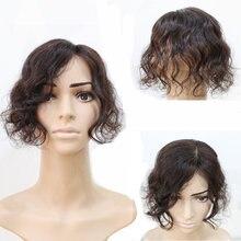 Halo Lady – frange de cheveux naturels, Body Wave, Volume brésilien, Non Remy, Invisible, pour la perte de cheveux