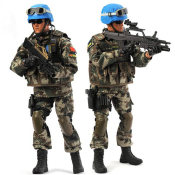 1/6 Scale KADHOBBY Peace mission Chinese UN peacekeeping force crops Military soldier Model toy 12' Full Set Action Figure Toy image
