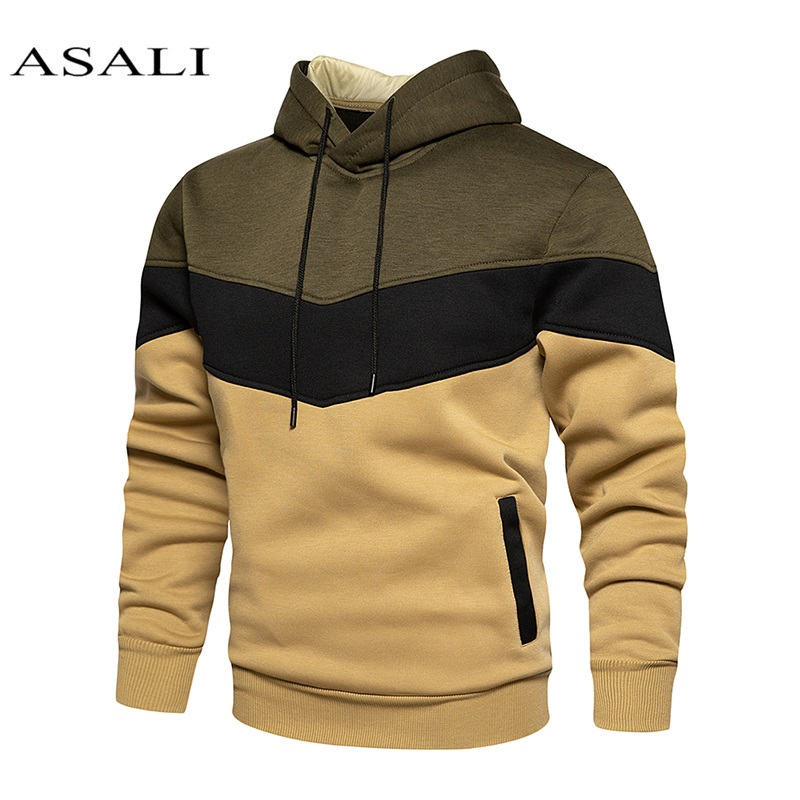 Male Patchwork 2020 Hip hop Hoodie Sweatshirt Men/Women Coat Fleece Hoodies +Sweatpants Suit Autumn Winter Warm Hooded Pullover